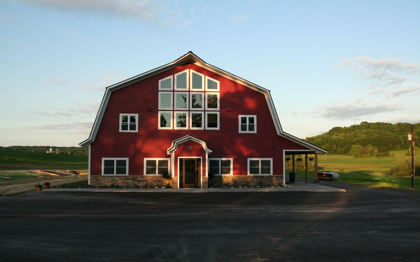 new building on family farm in Bloomer, Wisconsin